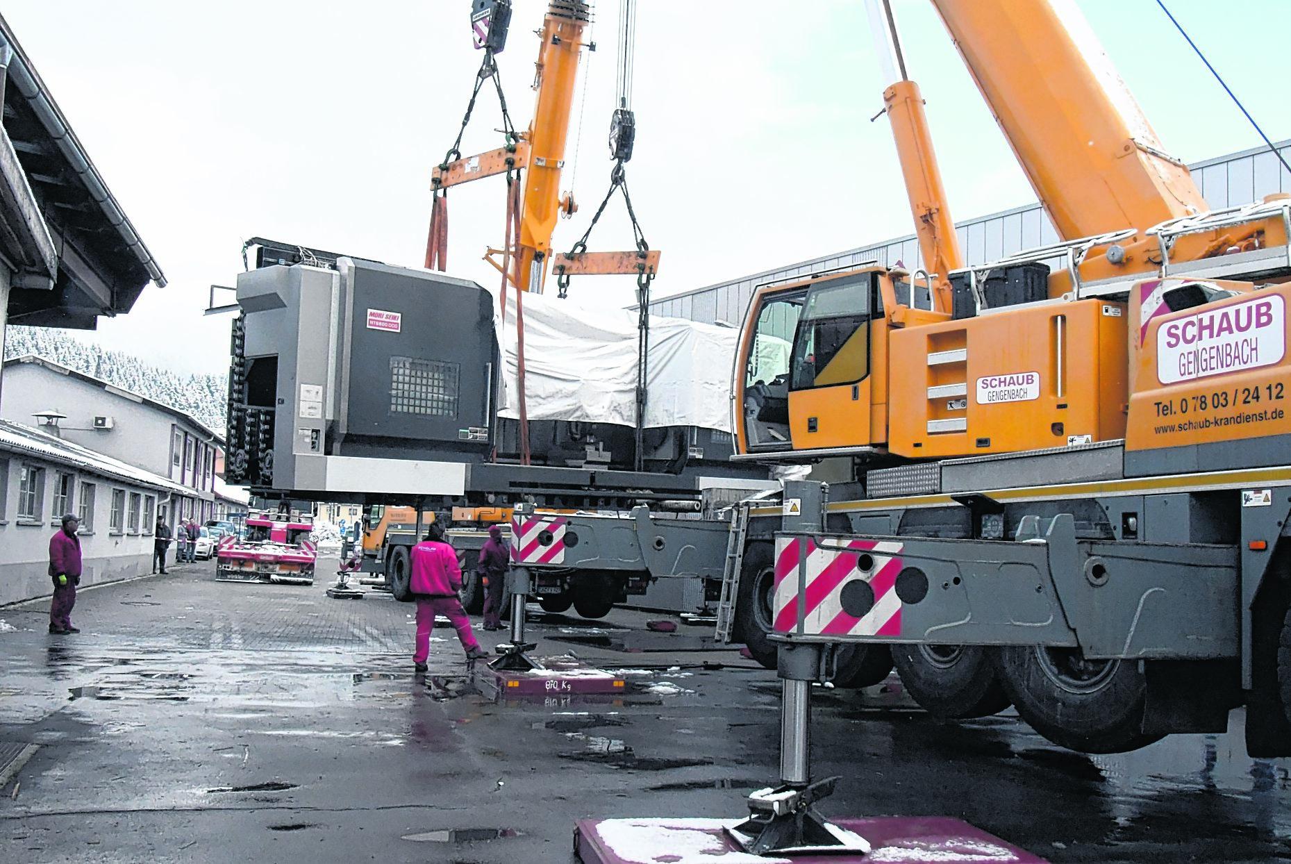 Schaub Gengenbach kinzigtal hengstler zylinder hausach 55 tonnen maschine löst