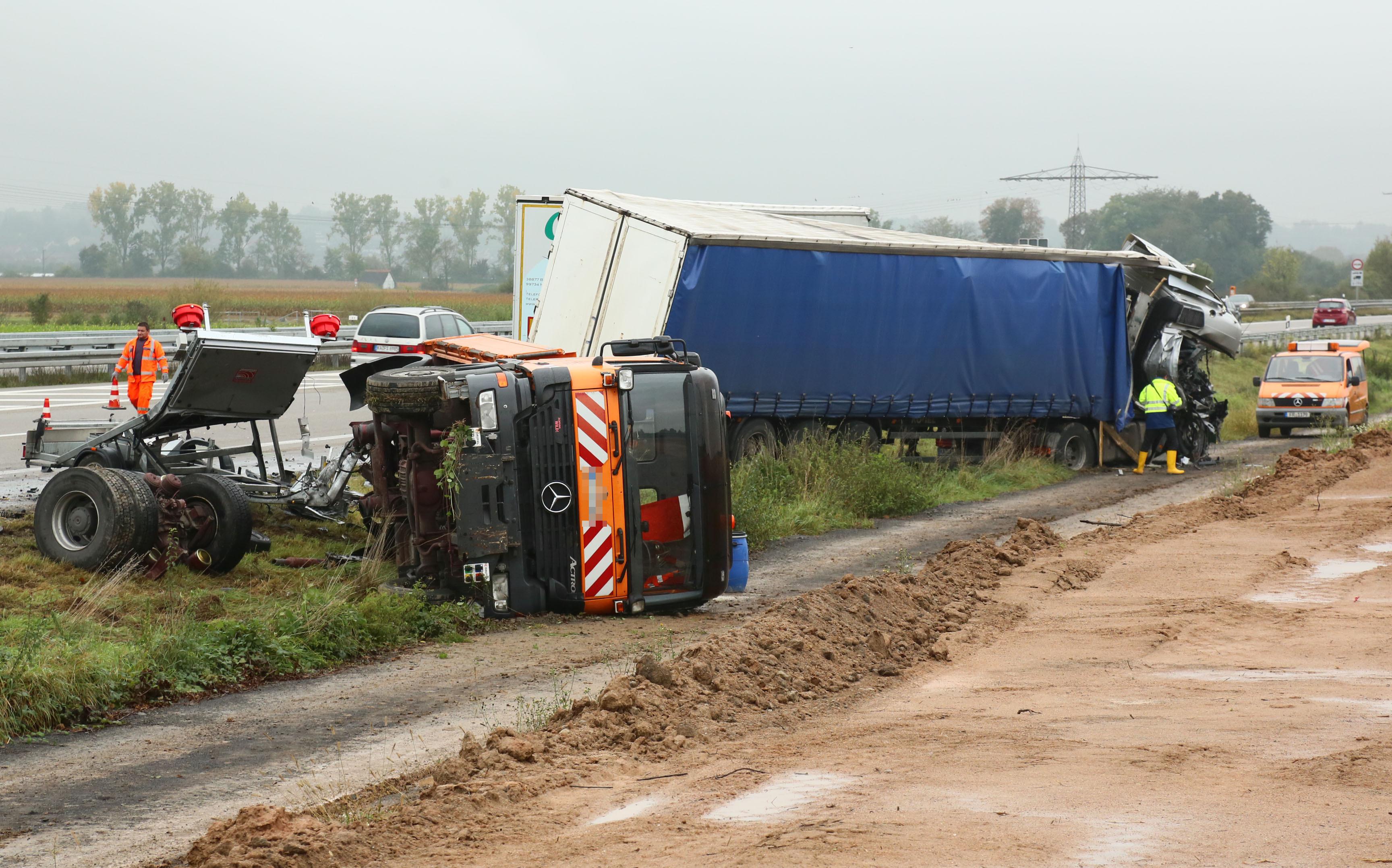 Unfall A5 Lkw