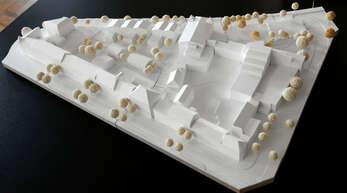 Modell des geplanten Einkaufszentrums in Offenburg.