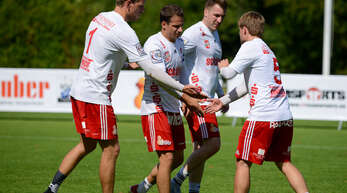 Wollen den Abstieg mit dem FBC Offenburg vermeiden (v. l.): Sven Muckle, Michael Haas, Stefan Konprecht und Thomas Häusler.