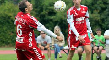 Bei zwei Spielen am Wochenende wollen Michael Haas (l.), Sven Muckle und Co. zumindest eines erfolgreich gestalten.