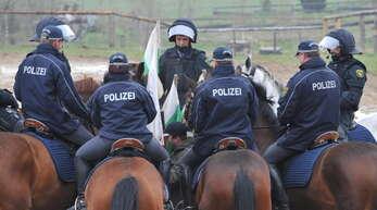 Symbolbild: Die Polizeireiterstaffel in Sachsen