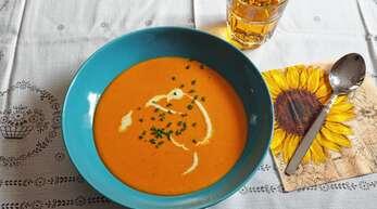 Passend zum Herbst ist die Kürbissuppe von Michaela Bross aus Oberachern – schnell, köstlich, pfiffig.