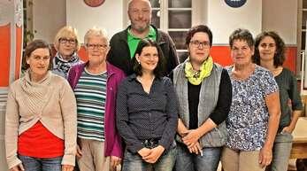 Der neue Fördervereins-Vorstand (von links) mit Rita Busch, Gerda Herr, Isolde Stengg, Martin Ziegler, Katja Adam, Simone Lässle, Gerda Baumann und Petra Sattler.