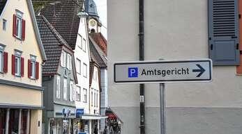»Total daneben«: Das Hinweisschild am Amtsgericht Oberkirch hat im Gemeinderat keine Fans.