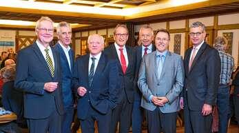 In der Jahresversammlung von Haus & Grund (von links): Thomas D. Voigt, Bruno Joos, Robert Renz, Rainer Lusch, Jürgen Schrader, Hans-Peter Kopp und Kai Warnecke.