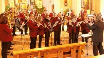 Zum Patrozinium gab der Musikverein wetterbedingt sein Platzkonzert in der Kirche.