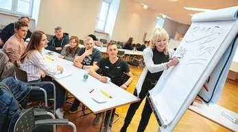 Ideen gesammelt: In verschiedenen Gruppen konnten die Schüler im Rahmen des »SMV-Forums« zu drei Themen Vorschläge und Wünsche vorbringen – zum Beispiel zu den Heimattagen 2022.