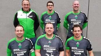 Die Meistermannschaft der FG Griesheim (hinten v. l.): Thomas Fischer, Timo Ehret, Frank Bross. Vorne v. l.: Marco Dobler, Manuel Itt und Michael Haas.