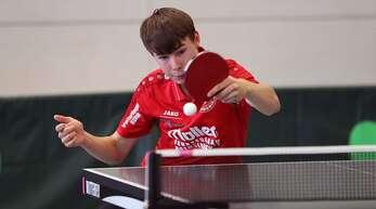 Der junge Tom Schaufler gewann ein Einzel für Hohberg.