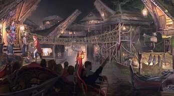 Diese Illustration gibt einen Vorgeschmack, wie die neue Piratenbahn im Europa-Park aussehen wird.