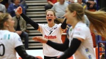 Pia Leweling jubelt künftig für den Schweizer Volleyball-Erstligisten VC Kanti Schaffhausen.