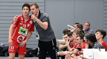 Trainer Martin Heuberger (rechts), hier mit Florian Fahner, will die A-Jugend des TuS Schutterwald erneut in die Bundesliga führen.