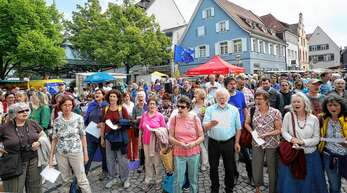 Zahlreiche Bürger ließen bereits beim »Europa-Flashmob« am Samstag die »Ode an die Freude« erklingen.