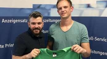 SVN-Spielausschuss Nicolas Braun (I) freut sich über die Rückkehr von Robert Unrau.