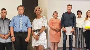Die Gemeinschaftsschule Achern zeichnete bei der Entlassfeier einige Preisträger – im Bild mit Rektor Heinz Moll und den Klassenlehrerinnen Annette Reichel (9a), Kornelia Peterka (9b) und Sibylle Meyer (10) – aus.