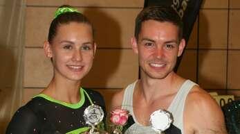 Das Siegerpaar des 12. Gengenbacher Turn-Mix (v. l.): Katha- rina Bernhardt (TV Herbolzheim) und Christian Dehm (Stadt-Turnverein Singen).