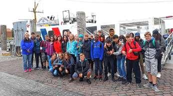 Gruppenfoto der 6. Klasse der August-Ganther-Schule auf der Insel Föhr.