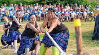 Erstmals beteiligte sich eine Frauenmannschaft an den Highland-Games in Prinzbach.