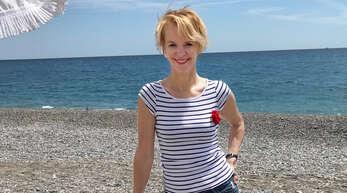 Die Lautenbacherin Barbara Kimmig hat am Strand der Cote d`Azur ihr Glück gefunden.