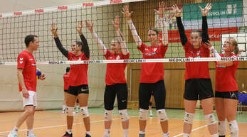 Bereiten sich seit Dienstag auf die 3. Liga vor (von links): Co-Trainer Joschka Wawra, Johanna Ewald, Hannah Haas, Isabelle Herp, Louisa Seib und Trainerin Richarda Zorn.