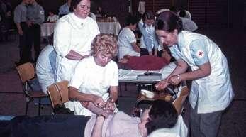 1972 gab es den ersten Blutspendetermin, heute werden jährlich drei abgehalten mit mehr als 600 Spendern.