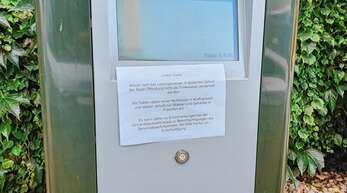 Am McDrive-Schalter informierte McDonald's die Kunden.