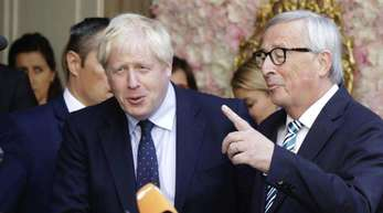 Boris Johnson (l.) und Jean-Claude Juncker.