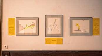 Fantasievolle Illustrationen sind in der Sonderausstelllung zu sehen.