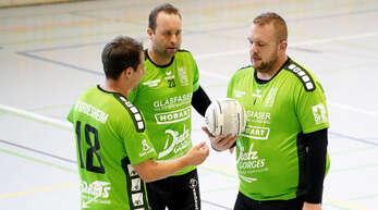 Michael Haas, Marco Dobler und Manuel Itt (v. l.) wollen mit der FG Griesheim zu Hause punkten.
