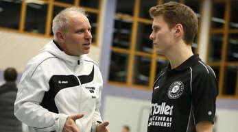 Thomas Huck (l.) hat derzeit jede Menge Freude an seiner Hohberger Mannschaft.