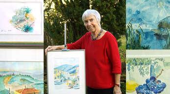 Annemarie Maack aus Haslach will mit dem Verkauf ihrer Aquarelle krebskranke Kinder unterstützen. Dieses gerahmte Bild soll 50 Euro kosten.