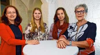 """""""Lahr erzählt"""" (von links) Moderatorin Sabine Frigge, Johanna Wolfsperger, Sandy David und Ulrike Ertl."""