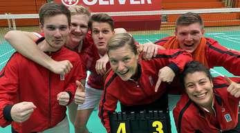 Ausgelassen feierte das Team des BC Offenburg den Erfolg.