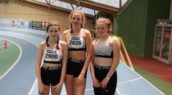"""Lelia Vollmer, Flavia Daniels und Annika Fritsch hatten sich für die """"Badischen"""" qualifiziert."""