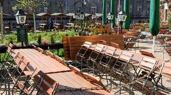 Leere Biergärten: Für die Gastronomie sieht es derzeit düster aus.