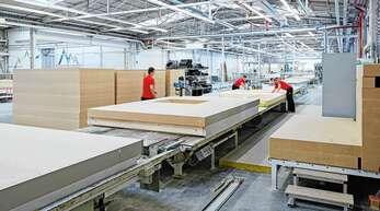Auf Hochtouren lief die Produktion im vergangenen Jahr beim Fertighaushersteller Weber Haus.