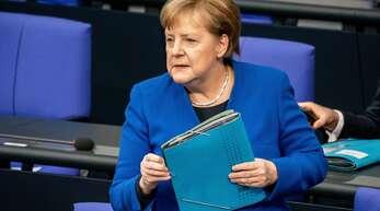Angela Merkel äußerte sich in der Regierungsbefragung im Bundestag.