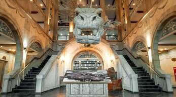Im Europa-Park-Hotel Krønasår empfängt die Meeresschlange aus der Rulantica-Saga die Gäste. Zwar schlängelt sich Svalgur durch die Hotellobby, doch die neue Wasserwelt Rulantica wird zur Wiedereröffnung am 29. Mai nicht zugänglich sein.