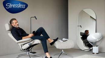 Willkommen zu Hause: Stressless® steht für Komfort und Entspannung. Modell: Tokyo Linden Sand.