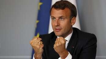 Frankreichs Präsident Macron tritt die Flucht nach vorne an.