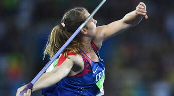 Sara Kolak wurde 2016 Olympiasiegerin.