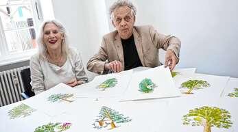 """Nach der Serie """"Kräuter der Region"""" im vergangenen Jahr, zeichnen die Journalistin Brigitte Walde-Frankenberger und ihr Mann, der Illustrator Paul Walde, jetzt für die Serie """"Bäume der Region"""" verantwortlich."""