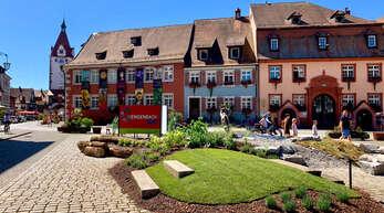 """Vor der historischen Kulisse Gengenbachs entfaltet sich bei """"Gengenbach blüht!"""" ein überraschendes Kaleidoskop an Farben. Schritt für Schritt entdecken die Besucher die Schwarzwaldstadt für sich."""