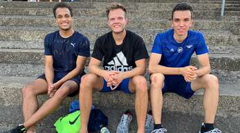 Die Sprinter der LG Offenburg (v. l.): Milo Skupin-Alfa, Simon Bitterberg und Felix Frühn.