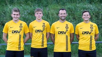Vier der fünf Neuzugänge beim FV Sulz (v. l.): Jonas Wagner, Hendrik Mayer, Manuel Herr und Steffen Rothmann. Auf dem Bild fehlt Jonas Schmieder.