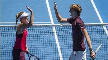 Deutschlands Tennisasse Angelique Kerber und Alexander Zverev haben eine unterschiedliche Sichtweise auf die US Open unter Corona-Bedingungen.