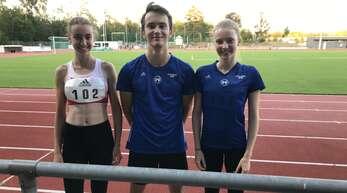 In Walldorf am Start (v. l.): Anne Kling, Alexander Schnurr und Nicole Jansen.