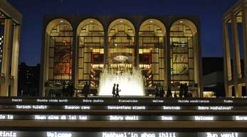 """Die """"Met"""" ist eines der wichtigsten Opernhäuser der Welt"""
