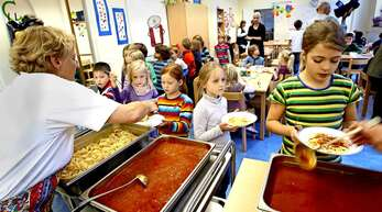 Auch Teil der Ganztagsschule: das gemeinsame Mittagessen.